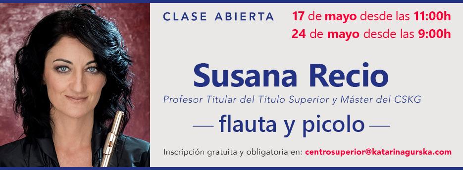 Novedades Educativas - jornada clase abierta de flauta y picolo de Susana Recio