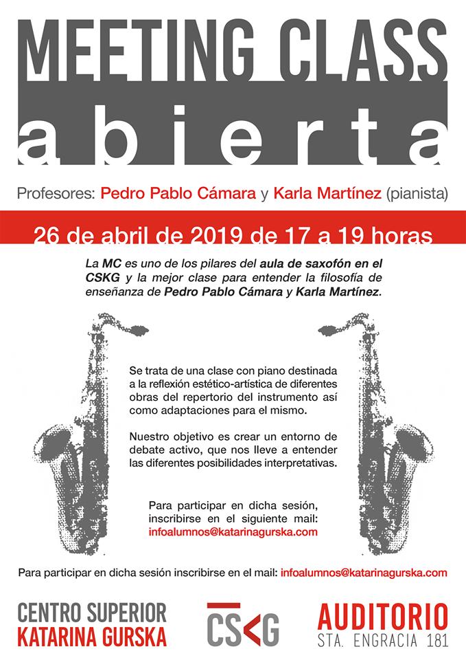 Novedades Educativas - MEETING CLASS ABIERTA Pedro Pablo Cámara